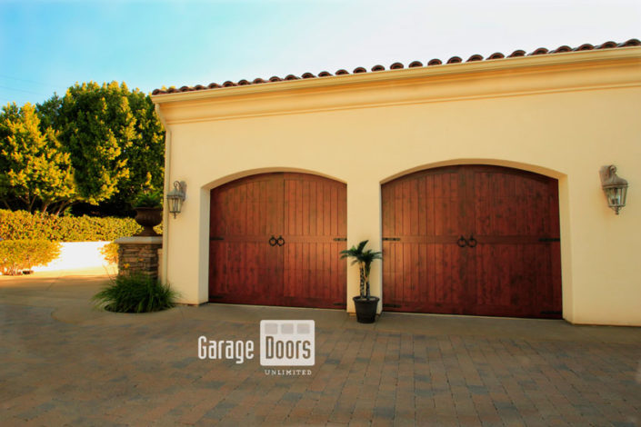 Spanish Style Wood Garage Doors