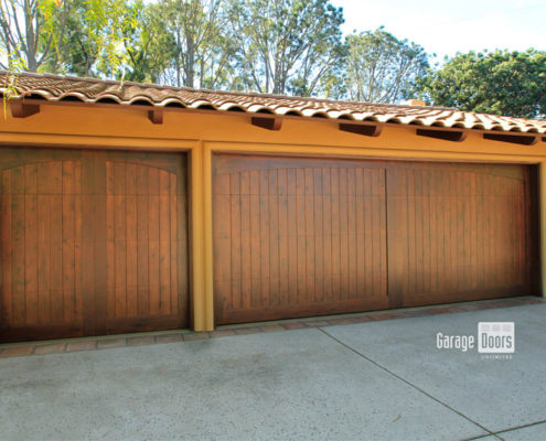 Stain Grade Custom Wood Garage Door