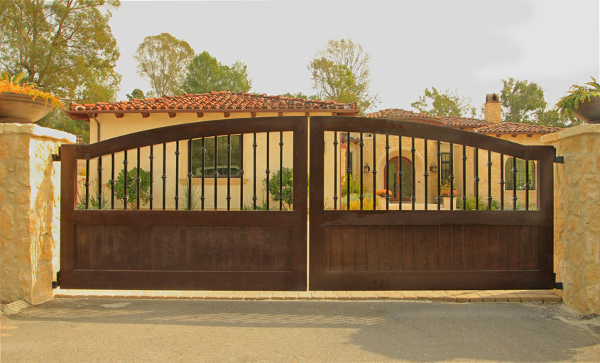 All of these gates can have matching wood door jambs. Accessories are available as well like iron traps metal filigree design or speak easyu0027s and ... & Driveway Gates | Garage Doors Unlimited | GDU Garage Doors
