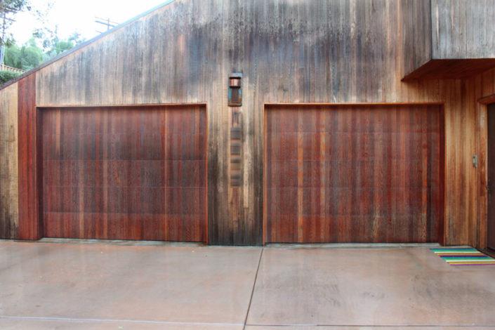 Stain Grade Custom Garage Doors