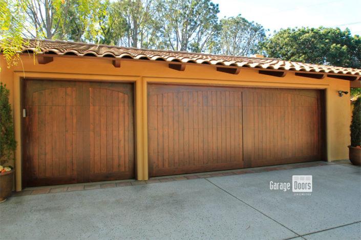 Stain Grade Custom Wood Garage Door