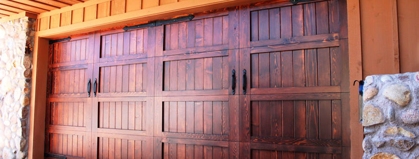 Stain Grade Wood Garage Doors