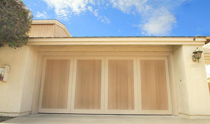 Painted Wood Garage Doors